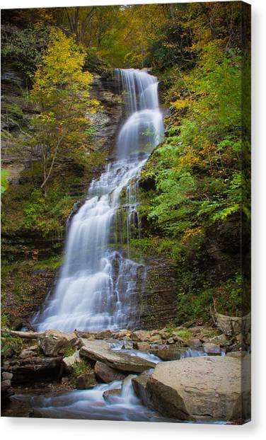 Fall At Cathedral Falls Canvas Print