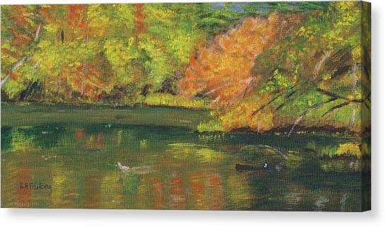Fall At Dorrs Pond Canvas Print