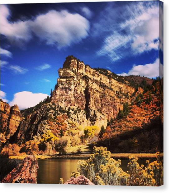 Fall At Hanging Lake Colorado Canvas Print by Tory Stoffregen