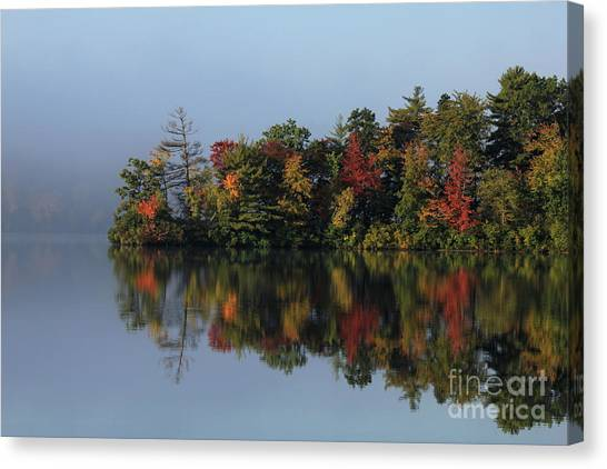 Fall At Heart Pond Canvas Print