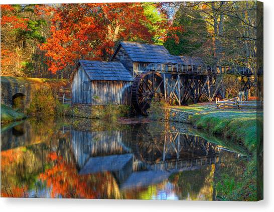 Fall At Mabry Mill Canvas Print