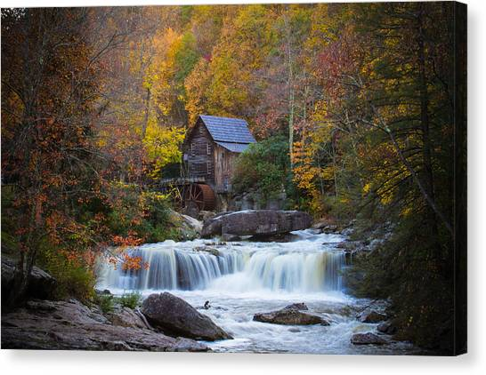 Mill At Babcock State Park Canvas Print