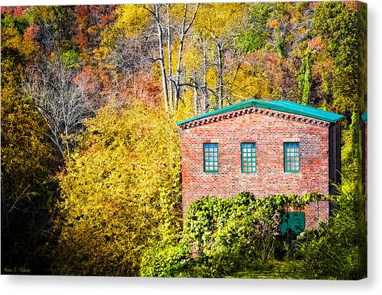Canvas Print featuring the photograph Fall At The Old Mill In Roswell by Mark Tisdale