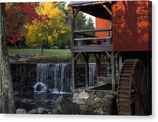 Fall At The Weston Mill Canvas Print