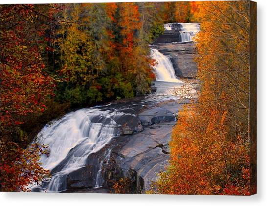 Fall At Triple Falls Canvas Print