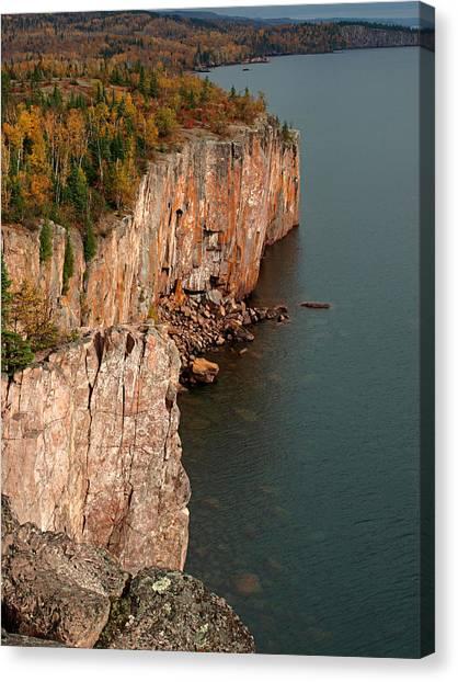 Fall Colors Adorn Palisade Head Canvas Print