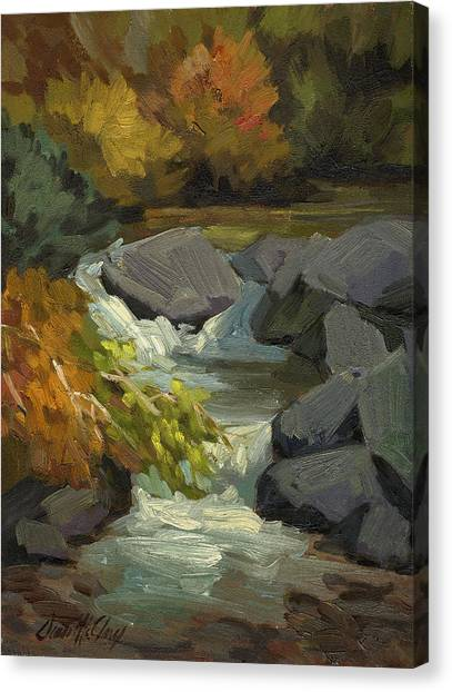 Bishops Canvas Print - Fall Colors At Bishop Creek by Diane McClary