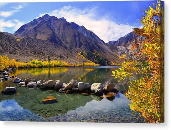 Fall Colors At Convict Lake  Canvas Print