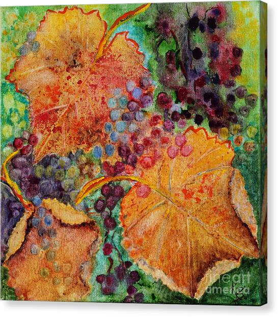 Canvas Print featuring the painting Fall Colors by Karen Fleschler