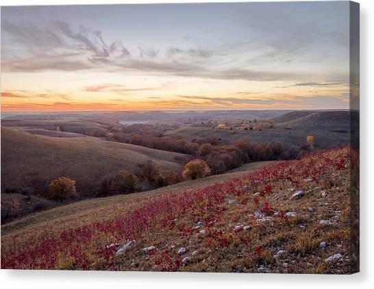 Prairie Sunsets Canvas Print - Fall Colors by Scott Bean