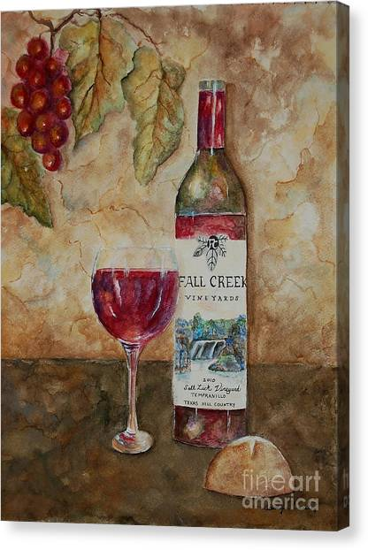 Fall Creek Vineyards Canvas Print