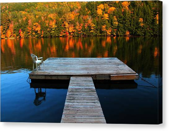 Fall Dock In Vt Canvas Print