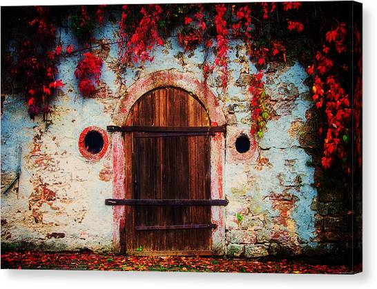 Fall Door Canvas Print