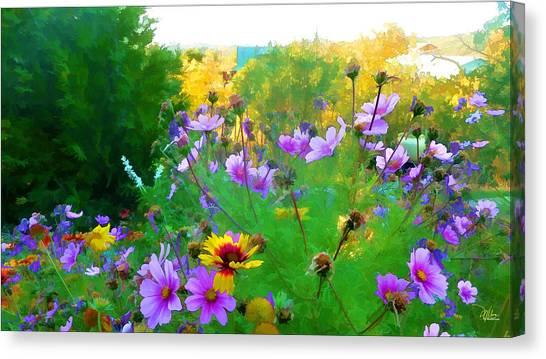 Fall Enters The Garden No 2 Canvas Print