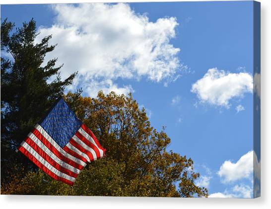 Fall Flag Canvas Print