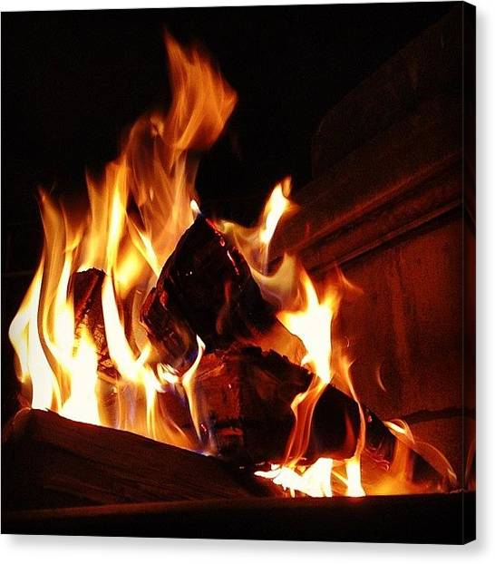 Soccer Teams Canvas Print - Fall Flames. #fire #campfire by Paul West