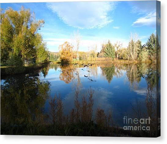 Fall Flight Reflected Canvas Print