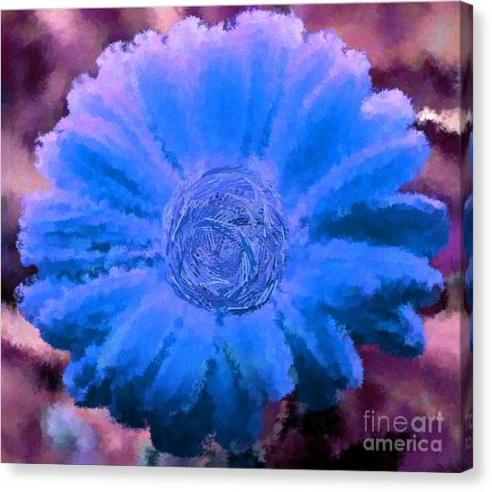 Fall For Me Purple Blue Canvas Print by Holley Jacobs