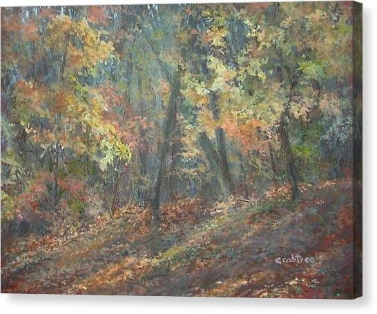 Fall Forest Canvas Print by Elizabeth Crabtree