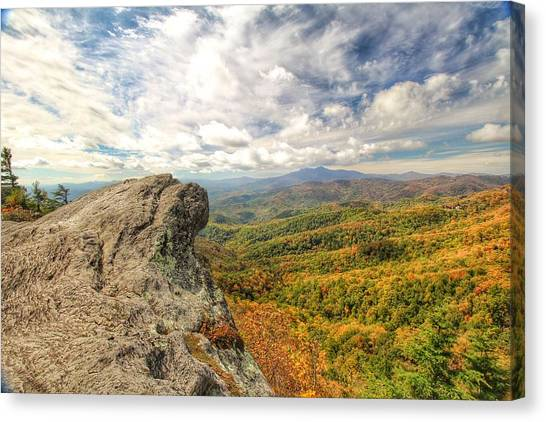 Fall From The Blowing Rock Canvas Print