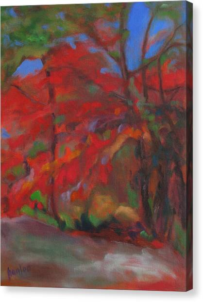 Fall Fusion Canvas Print by Susan Hanlon