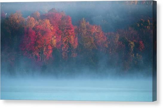 Lake Sunrises Canvas Print - Fall Impression #4 by ??? / Austin