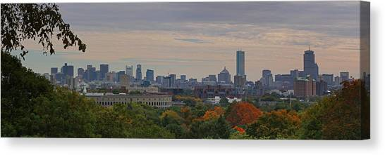 Harvard Canvas Print - Fall In Boston by Juergen Roth