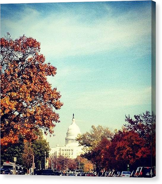 Parliament Canvas Print - Fall In Dc by Pauline G