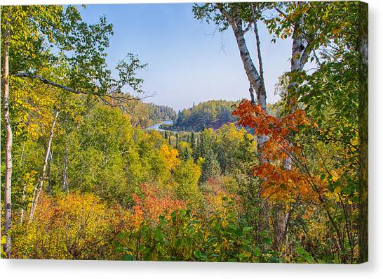 Fall In Gooseberry State Park Canvas Print