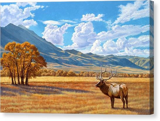 Montana Canvas Print - Fall In Paradise Valley by Paul Krapf