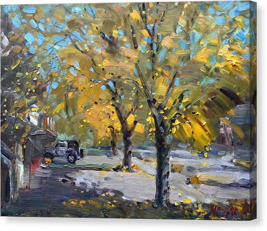 Ontario Canvas Print - Fall In Silverado Dr  by Ylli Haruni