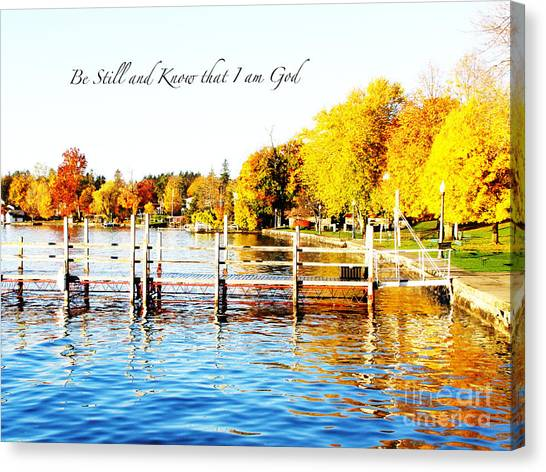 Fall In Skaneateles Ny Canvas Print