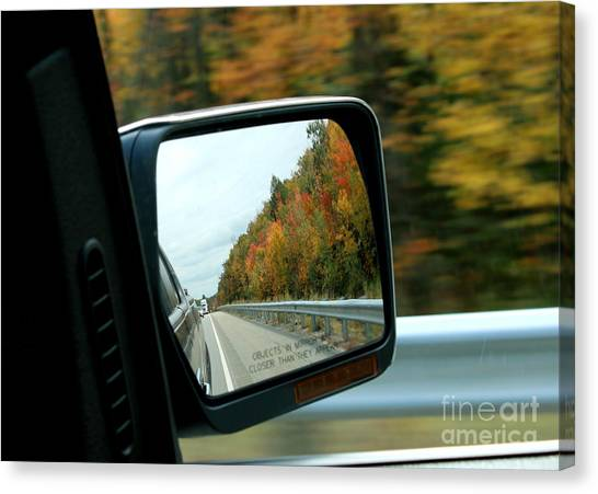 Fall In The Rearview Mirror Canvas Print