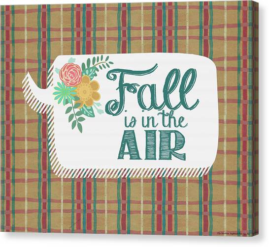 Plaid Canvas Print - Fall Is In The Air by Jo Moulton