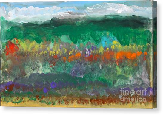 Canvas Print - Fall Landscape Abstract by Anne Cameron Cutri