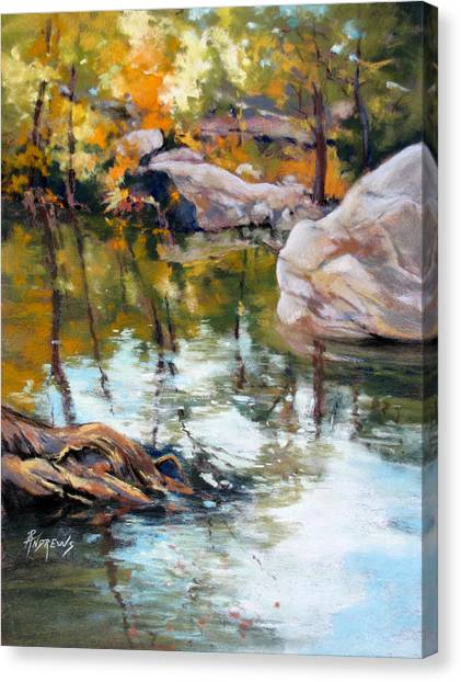 Fall Mirror Canvas Print