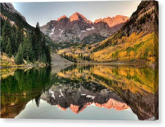 Fall N Reflections Canvas Print