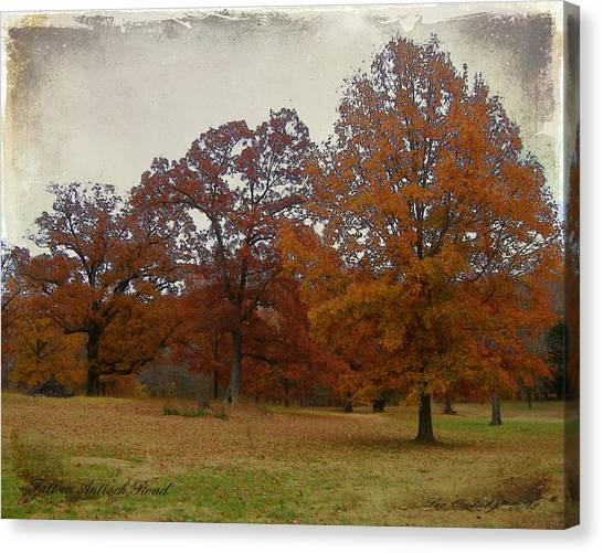 Fall On Antioch Road Canvas Print