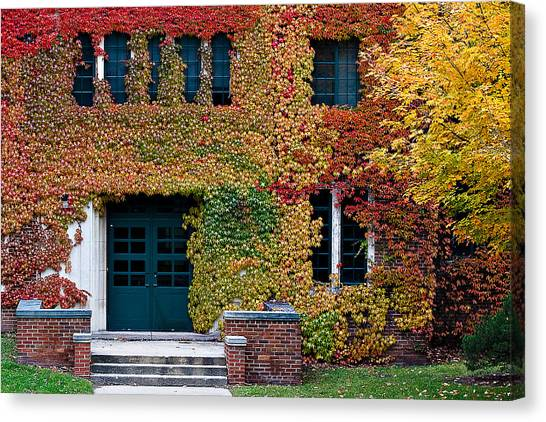 Western Michigan University Wmu Canvas Print - Fall On Campus by Jim Fox