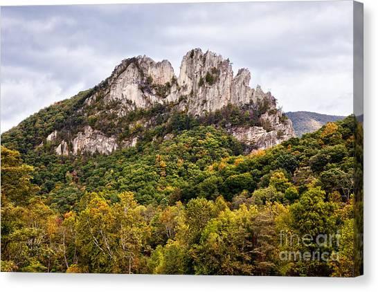 Fall On Seneca Rocks West Virginia Canvas Print