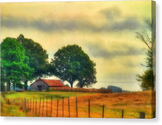 Landscape - Barn - Fall On The Farm Canvas Print by Barry Jones