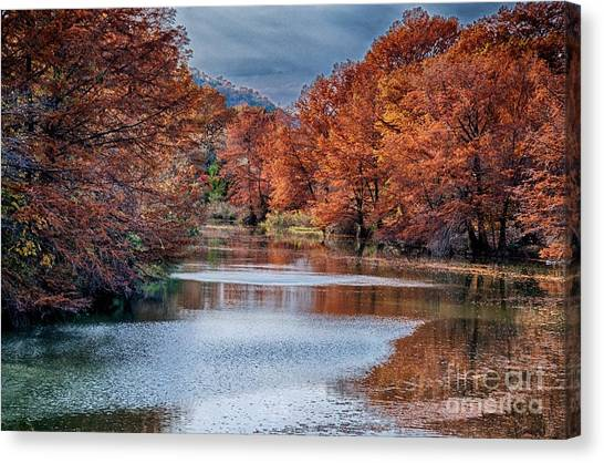 Fall On The Guadalupe Canvas Print
