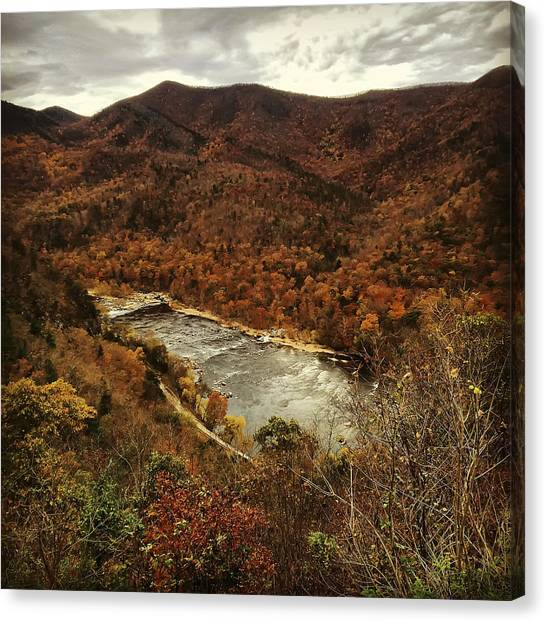 Fall On The Maury Canvas Print
