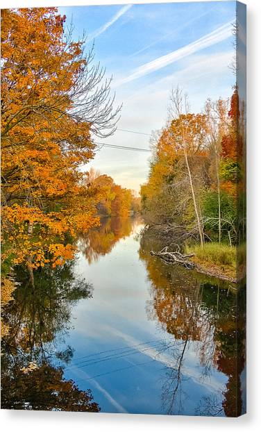 Fall On The Red Cedar  Canvas Print