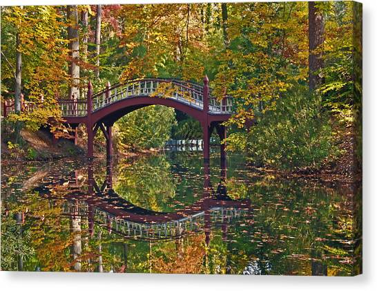 Fall Reflections At Crim Dell Canvas Print