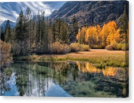 Rivers Canvas Print - Fall Reflections by Cat Connor