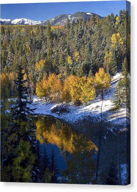 Fall Reflections On Bobcat Pass Canvas Print