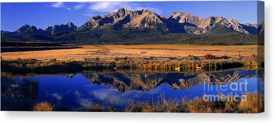 Fall Reflections Sawtooth Mountains Idaho Canvas Print