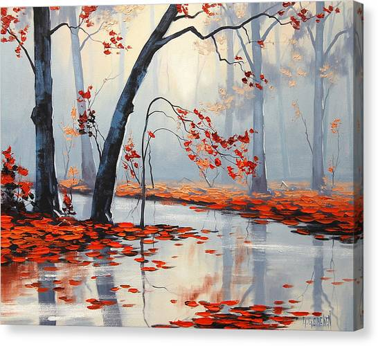 Amber Canvas Print - Fall River Painting by Graham Gercken