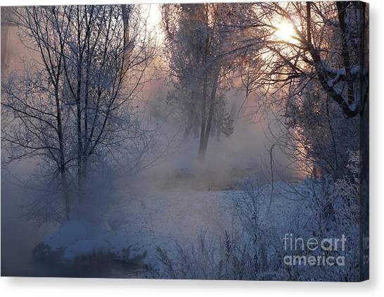 Fall River Steam Canvas Print